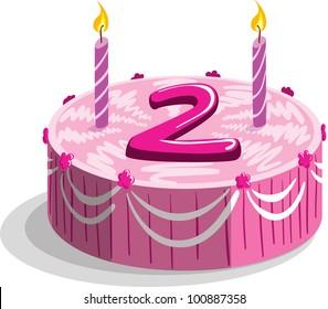 Second Birthday Cake