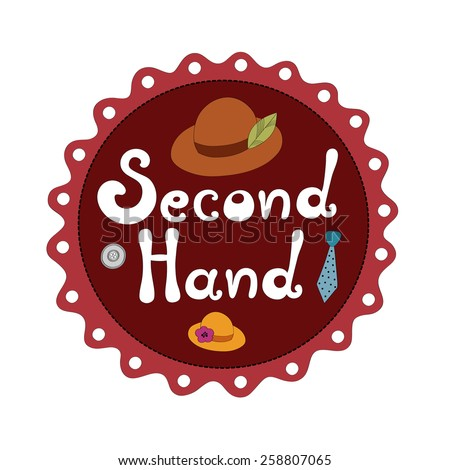 second hand shop vector illustration stock vector royalty free