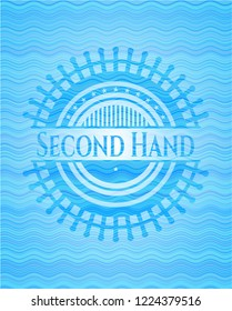 Second Hand water wave concept style emblem.