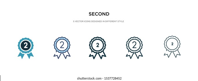 second icon in different style vector illustration. two colored and black second vector icons designed in filled, outline, line and stroke style can be used for web, mobile, ui
