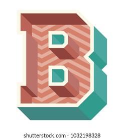 Second letter of English alphabet B