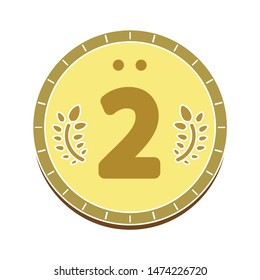 Second prize icon. flat illustration of Second prize vector icon. Second prize sign symbol