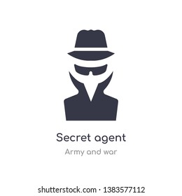 secret agent icon. isolated secret agent icon vector illustration from army and war collection. editable sing symbol can be use for web site and mobile app