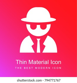 secret agent red and pink gradient material white icon minimal design