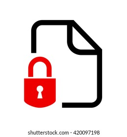 Secret locked document vector illustration isolated on white background