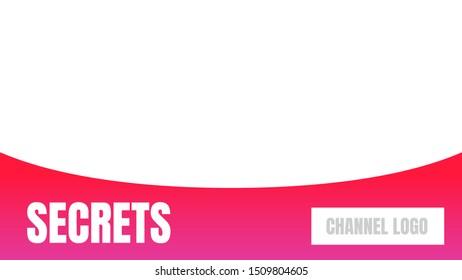 secrets video cover thumbnails vector