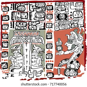 SECTION PAGE OF MADRID CODEX.MAYA CODICES