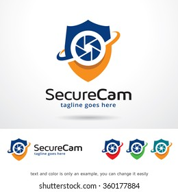 Secure Cam Logo Template Design Vector