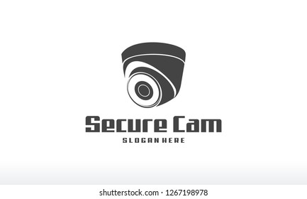 Secure Camera logo designs concept vector, CCTV Silhouette Logo designs template, Logo icon symbol template