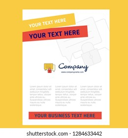 Secure chat  Title Page Design for Company profile ,annual report, presentations, leaflet, Brochure Vector Background