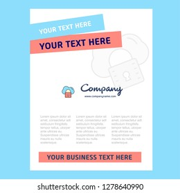 Secure cloud Title Page Design for Company profile ,annual report, presentations, leaflet, Brochure Vector Background