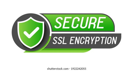 Secure connection, ssl shield protected symbols icon, https certificate privacy icon, secure secure data encryption technology on white background