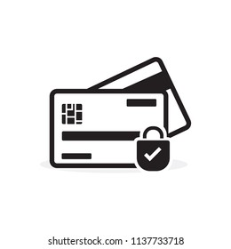Secure credit card payment icon