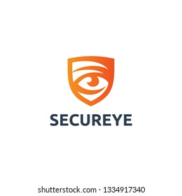 Secure Eye Logo Template Vector