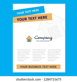 Secure house Title Page Design for Company profile ,annual report, presentations, leaflet, Brochure Vector Background