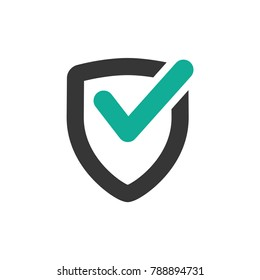 secure icon, best protection shield logo vector