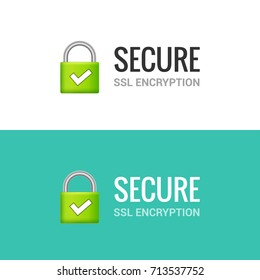 Secure internet connection SSL icon. Isolated secured lock access to internet illustration design. SSL safe guard