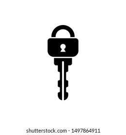 Secure key access isolated icon on a white background.