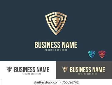 Secure Lock Logo Template Design Vector