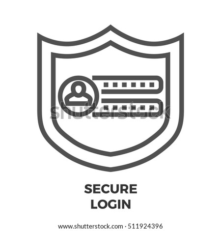 Secure Login Thin Line Vector Icon Stock Vector Royalty Free