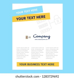 Secure network Title Page Design for Company profile ,annual report, presentations, leaflet, Brochure Vector Background