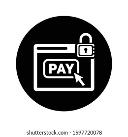 Secure online payment icon/Guaranteed  payment