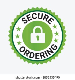 Secure Ordering Trust badge, secure-icon, Trust badge