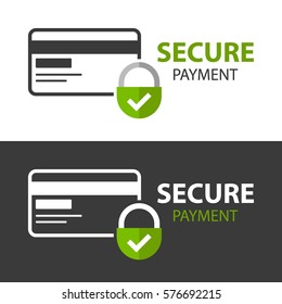 Secure Payment icon.  Isolated on white background