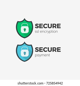 secure payment ssl technology icon set