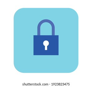Secure and privacy flat vector illustration.
