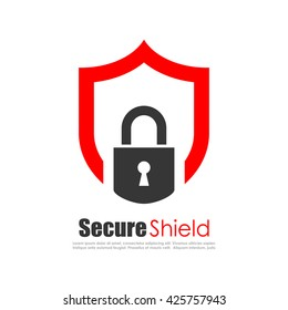 Secure protection abstract logo vector illustration isolated on white background