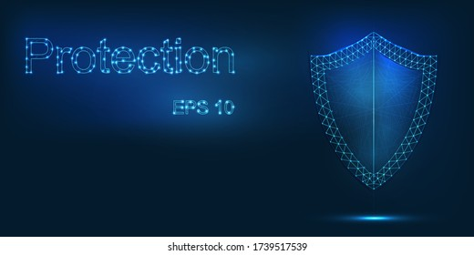 Secure technology background abstract design. Vector.