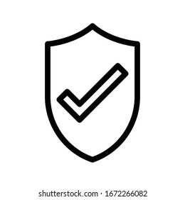 secure vector thin line icon