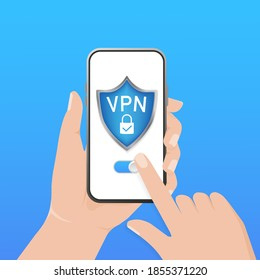 Secure VPN connection concept. Virtual private network connectivity overview. Safety internet technology, data secure. 3d icon with vpn for concept design.