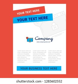 Secure website Title Page Design for Company profile ,annual report, presentations, leaflet, Brochure Vector Background