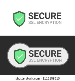 Secure your site with HTTPS, Secure connection icon vector illustration isolated, flat style secured ssl shield symbols, protected safe data encryption technology, https certificate privacy sign