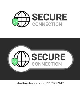 Secure your site with HTTPS, flat style secured ssl shield symbols, protected safe data encryption technology, https certificate privacy sign, protected payment idea, secure network connection.