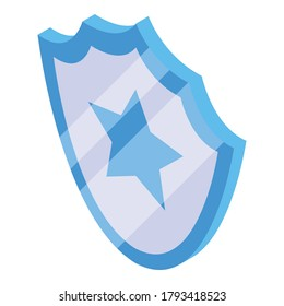 Secured audit icon. Isometric of secured audit vector icon for web design isolated on white background