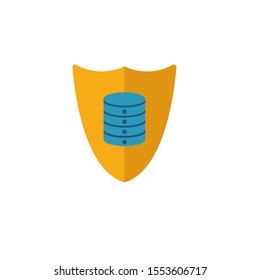 Secured Backup icon. Flat creative element from big data icons collection. Colored secured backup icon for templates, web design and software.