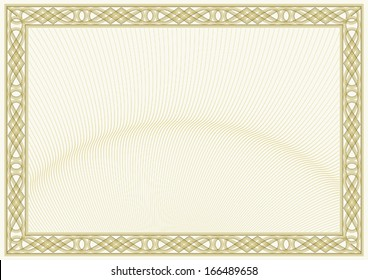 secured document background (guilloche style design for diploma or certificate)