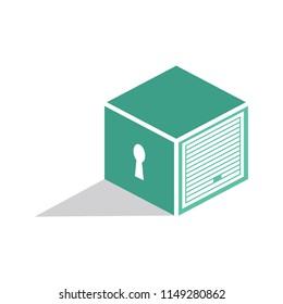Secured Self Storage Logo Design