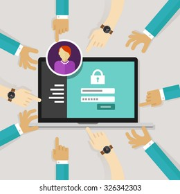 securing access from authorize software authentication password login form system security