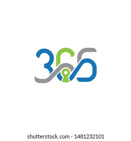Security 365 letter logo design template