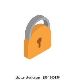 security advertising commerce marketing icon isometric vector illustration