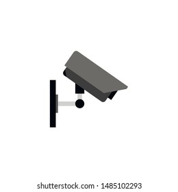 Security camera flat icon. You can be used Security camera icon for several purposes like: websites, UI, UX, print templates, promotional materials, info-graphics, web and mobile phone apps. - Vector