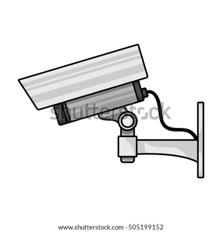 Security Camera Icon Cartoon Style Isolated Stock Vector Royalty