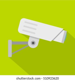 Security camera icon. Flat illustration of security camera vector icon for web