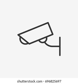 Security camera icon illustration isolated vector sign symbol
