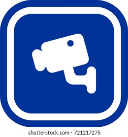 Security camera icon , sign Square with rounded corners