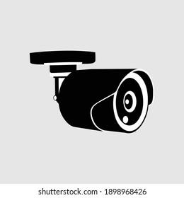 security camera icons, video surveillance, cctv sign set